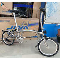 "3SIXTY Chrome Steel Folding Bike 16"" 349 Larger Size Bicycle with Caliper Brake Mini Rear Rack Inner 3 5 Speed Foldable Bikes"
