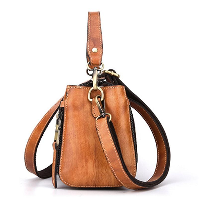 fe0bf70cb0a1 AEQUEEN Genuine Leather Handbag Embossed Flower Crossbody Bag Women  Shoulder Bags Luxury Trunk Ladies Totes Messenger Bag Bolsa-in Shoulder Bags  from ...