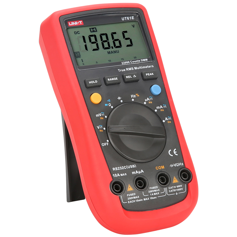 Image 4 - UNI T UT61A/UT61B/UT61C/UT61D/UT61E Auto Range Digital Multimeter; Resistance/Capacitance/Frequency/Temperature Test, RS 232-in Multimeters from Tools