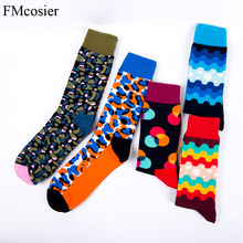 5 Pairs Autumn Winter Cotton Happy Socks Meias Gifts For