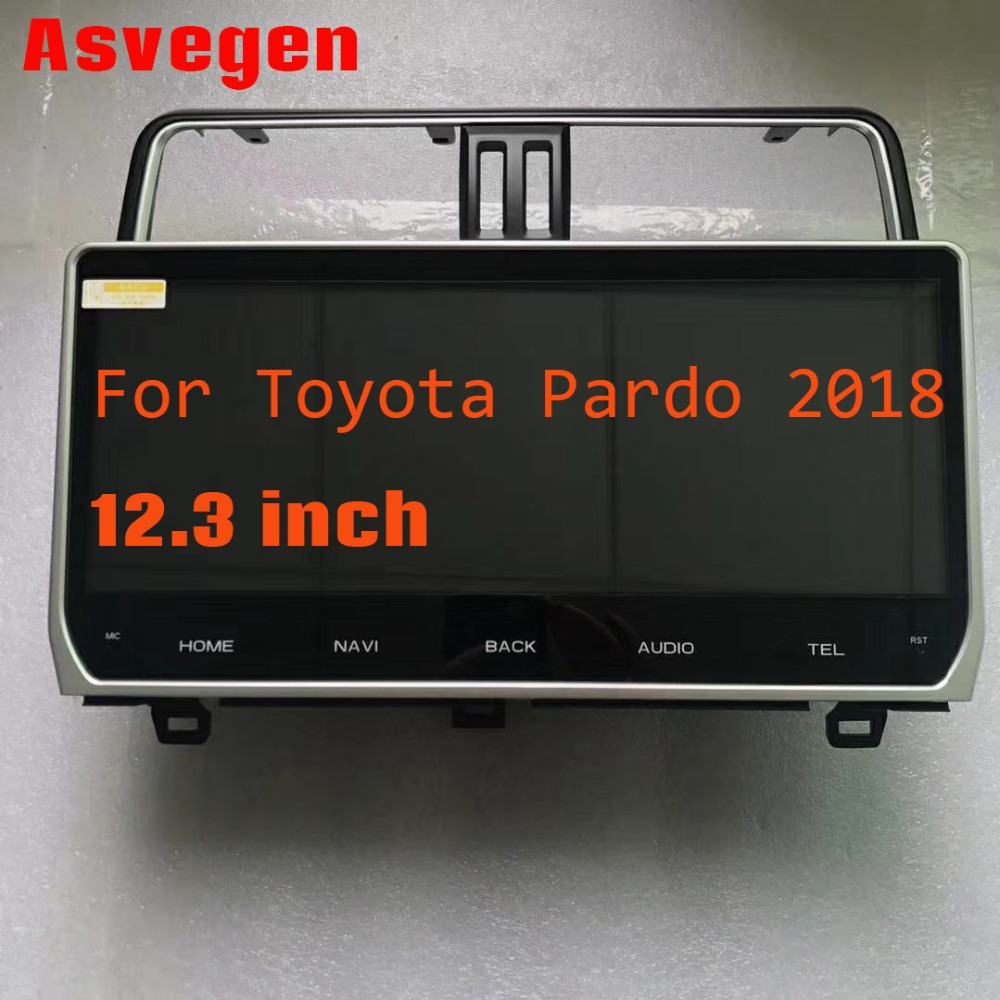 Android 7.1 Rádio Do Carro Para Toyota Land Cruiser Prado 2018 RAM 16 1G ROM G 12.3 polegada Carro Estéreo navegação