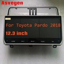 Android 7.1 Radiofonico Auto Per Toyota Land Cruiser Prado 2018 RAM 1G ROM 16G 12.3 pollici Car Stereo di navigazione