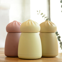 Cute Mini Thermos Cup Steamed Bun Lovely Stainless Steel Mug Portable Travel Vacuum Flask Term 260ml
