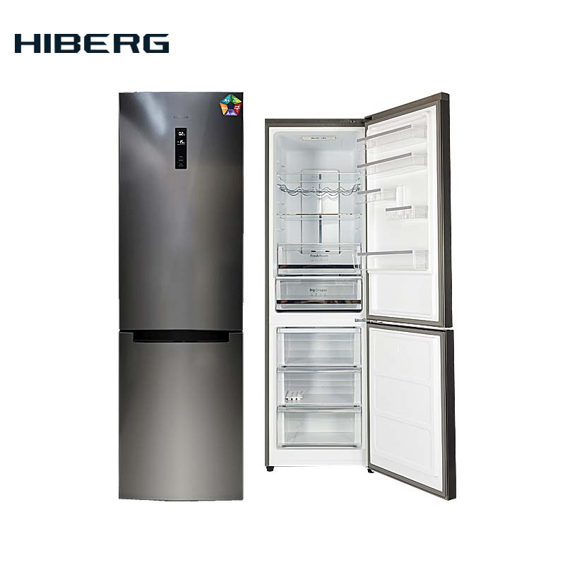 цены Refrigerator 2 meters with no frost system HIBERG RFC-372DX NFXd