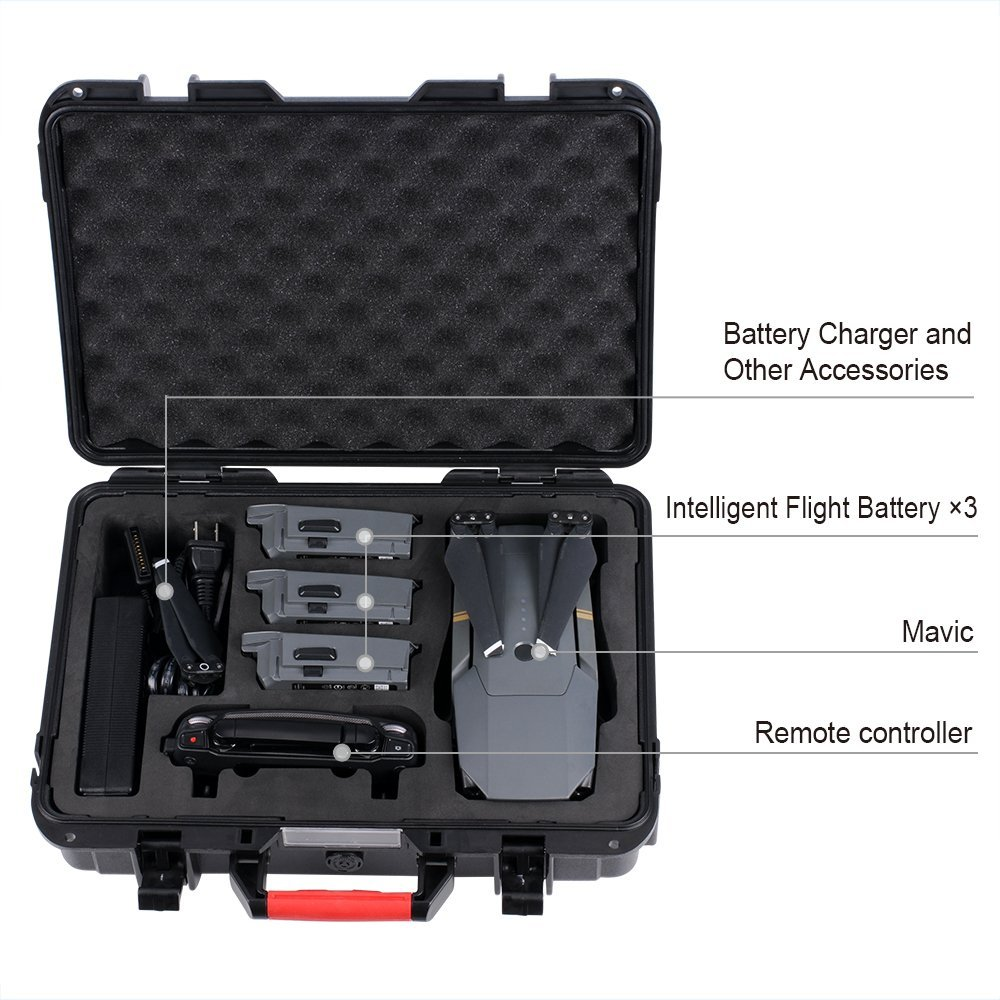 Smatree D600 Carrying Hard Case for DJI Mavic Pro  Waterproof Mavic Pro Hard Shell Box Compact Drone Storage Suitcase-in Camera/Video Bags from Consumer Electronics    2