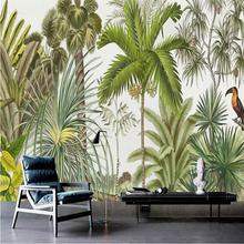 Европейский ретро тропический лес гостиной стены профессиональное
