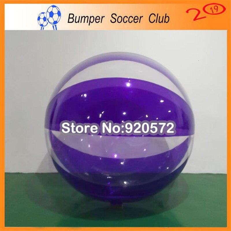 Livraison gratuite 0.8mm PVC Transparent Marche De L'eau Balle Drôle 1.5 m Gonflable Boule De L'eau Pour Vente Aqua Zorbing Balle