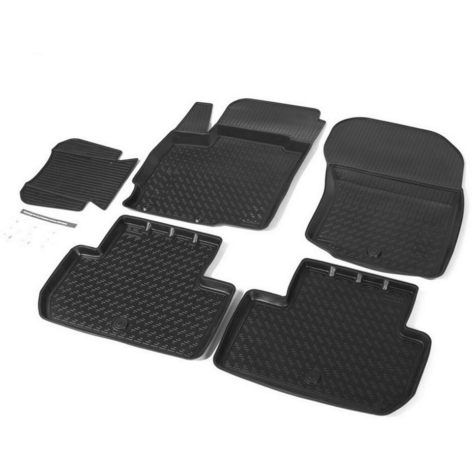 Floor mats into saloon for Mitsubishi Outlander 2013-2018 5 pcs/set (Rival 14002002) for mitsubishi outlander 2013 2019 trunk mat for cars with organizer rival 14002003