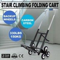 Capacidade 420LBS Stair Climber Carrinho 30 Polegada Altura Dobrado Mão Truck Heavy Duty escada do caminhão de mão