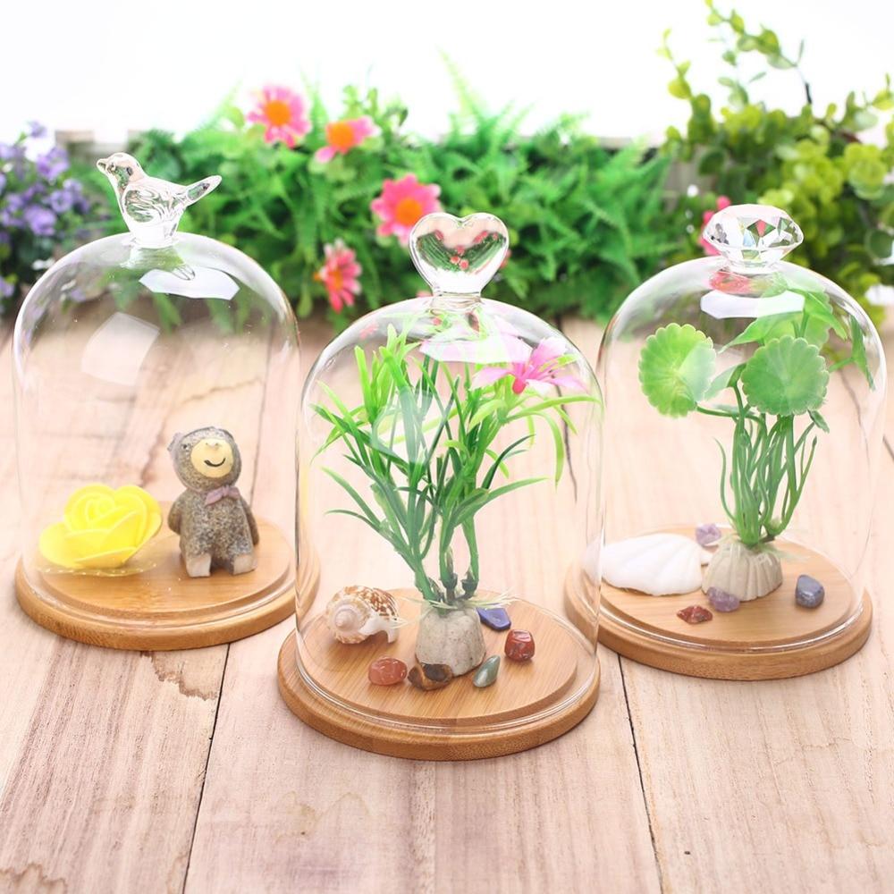 Стеклянная крышка с розами, свежий цветочный декор, романтический подарок на День святого Валентина для подруги, многоузорная домашняя птица