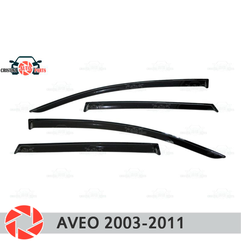 Window deflector for Chevrolet Aveo 2003-2011 rain deflector dirt protection car styling decoration accessories molding high quality car styling case for hyundai sonata 2011 12 headlights led headlight drl lens double beam hid xenon car accessories