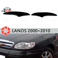 Eyebrows for Chevrolet Lanos 2000~2010 for headlights cilia eyelash plastic moldings decoration trim car styling molding