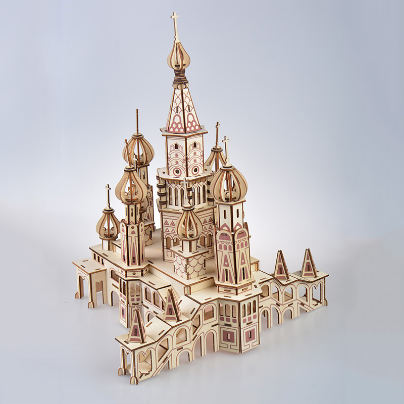 St Basil 39 s Cathedral Russia large puzzle model TOY for children adult kids 3D diy model kit set Catedral de San toys for adult in Model Building Kits from Toys amp Hobbies