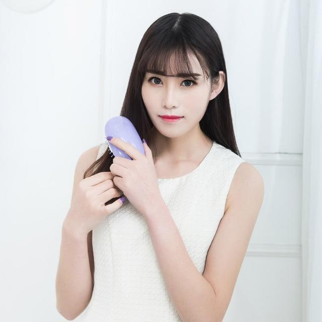 Pritech Mini Hair Comb Electric Massage Hair Brush Potable Comb Brush For Hair Take Out Anti -Static Girls Hair Brush 4