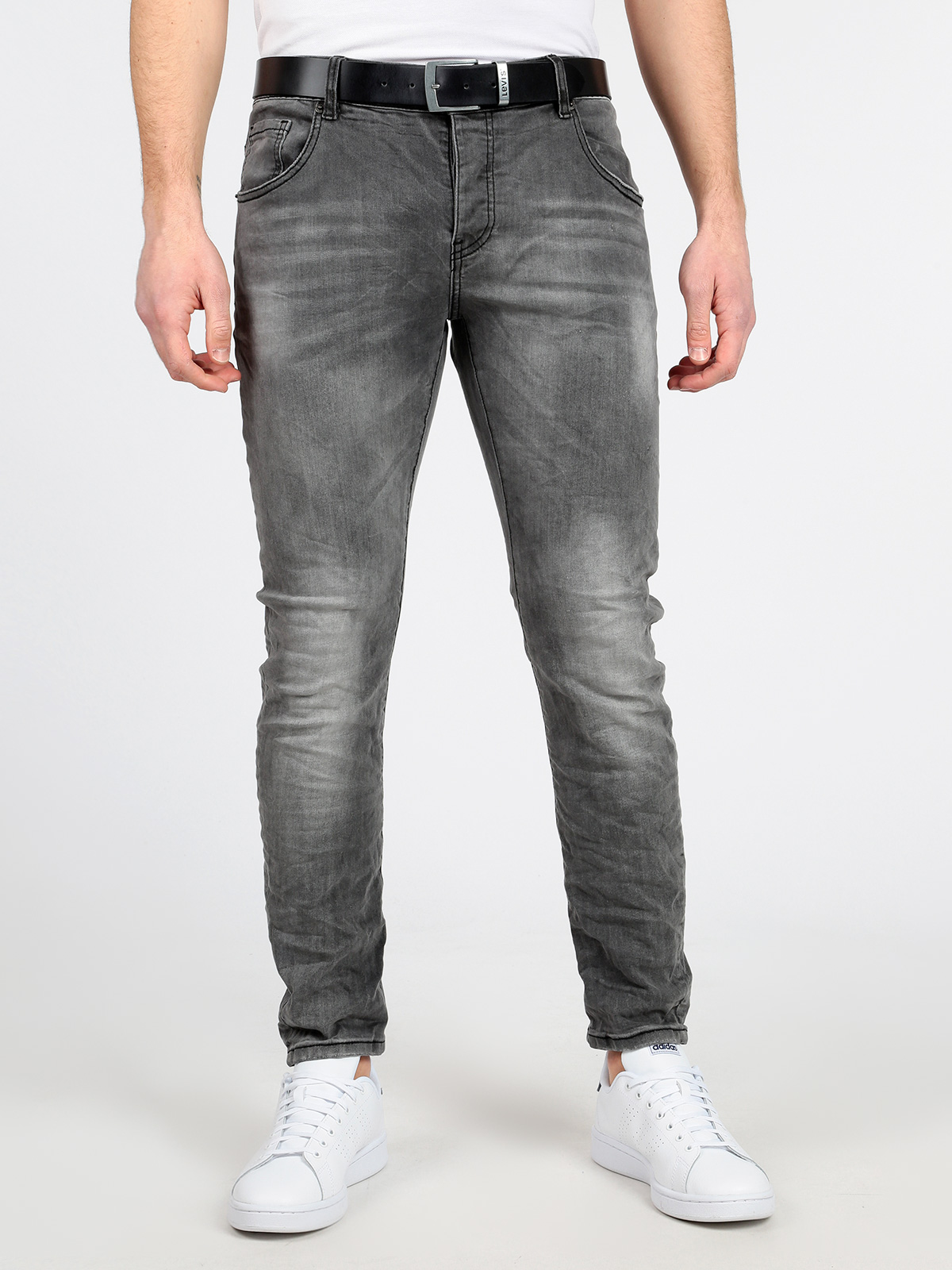 Gray Jeans Effect Washed