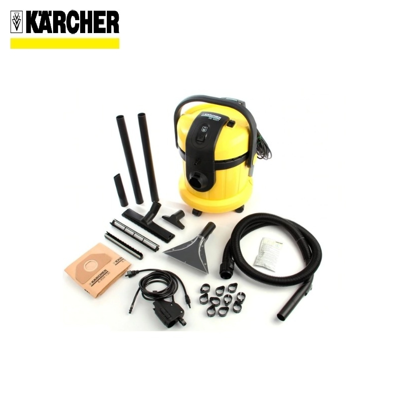 Washing vacuum cleaner Karcher SE 4001 Wet and dry hoover Dust-collecting fan Dust monitor Water cleaner free shipping q5669 60664 for hp designjet t610 t1100 z2100 z3100 z3200 vacuum fan aerosol fan assembly original used