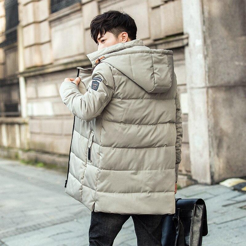 0adbfe2a6 Korean Style Puffer Jacket Men Youth Cotton Padded Down Coat Zipper ...