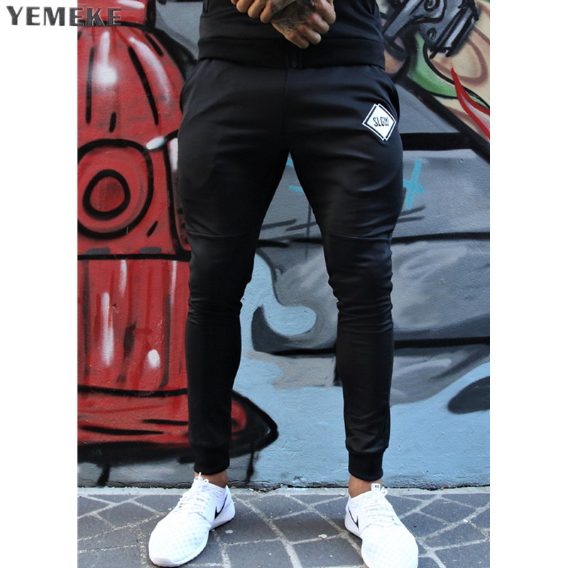 2018 GYMS New Men Pants Compress Gymming Leggings Men Fitness Workout Summer Sporting Fitness Male Breathable Long Pant