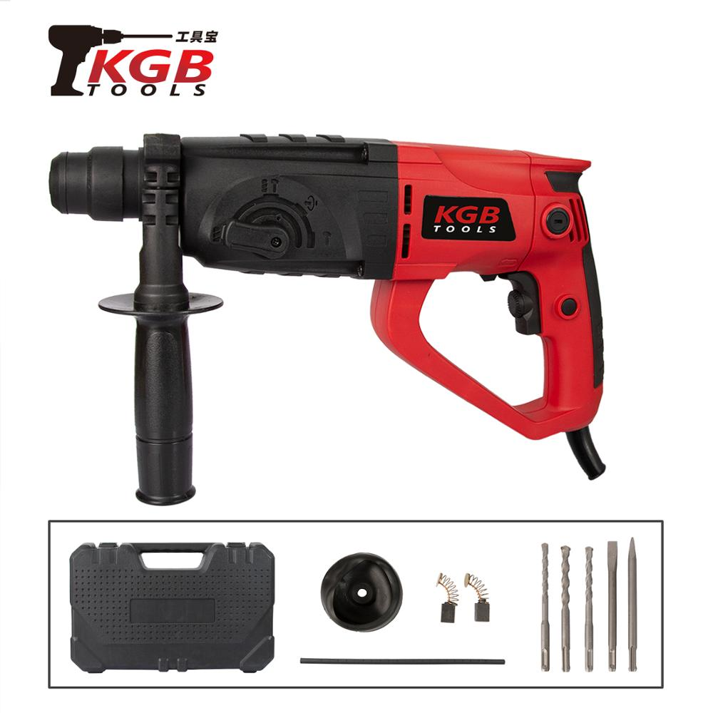 KGB TOOL 220V 26mm 4 Function AC Electric Rotary Hammer With BMC And 8 Accessories Impact Drill Electric Drill