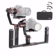 Feiyu a2000 двойной рукоятки комплект 3-осевой Камера Gimbal FeiyuTech Alpha стабилизатор для Canon 5D серии SONY A7 с сумкой чехол