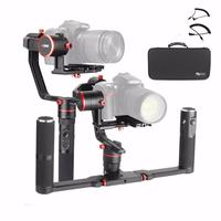 Feiyu a2000 Dual Hand Grip Kit 3 Axis Camera Gimbal FeiyuTech Alpha Stabilizer for Canon 5D Series SONY A7 With Carrying Case.