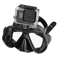 Powerwin Swimming Mask Tempered Glasses Diving Mask For Gopro HERO 5 4 3 Yi 4K SJ4000 H9 Camera Scuba Snorkel Mask Accessory