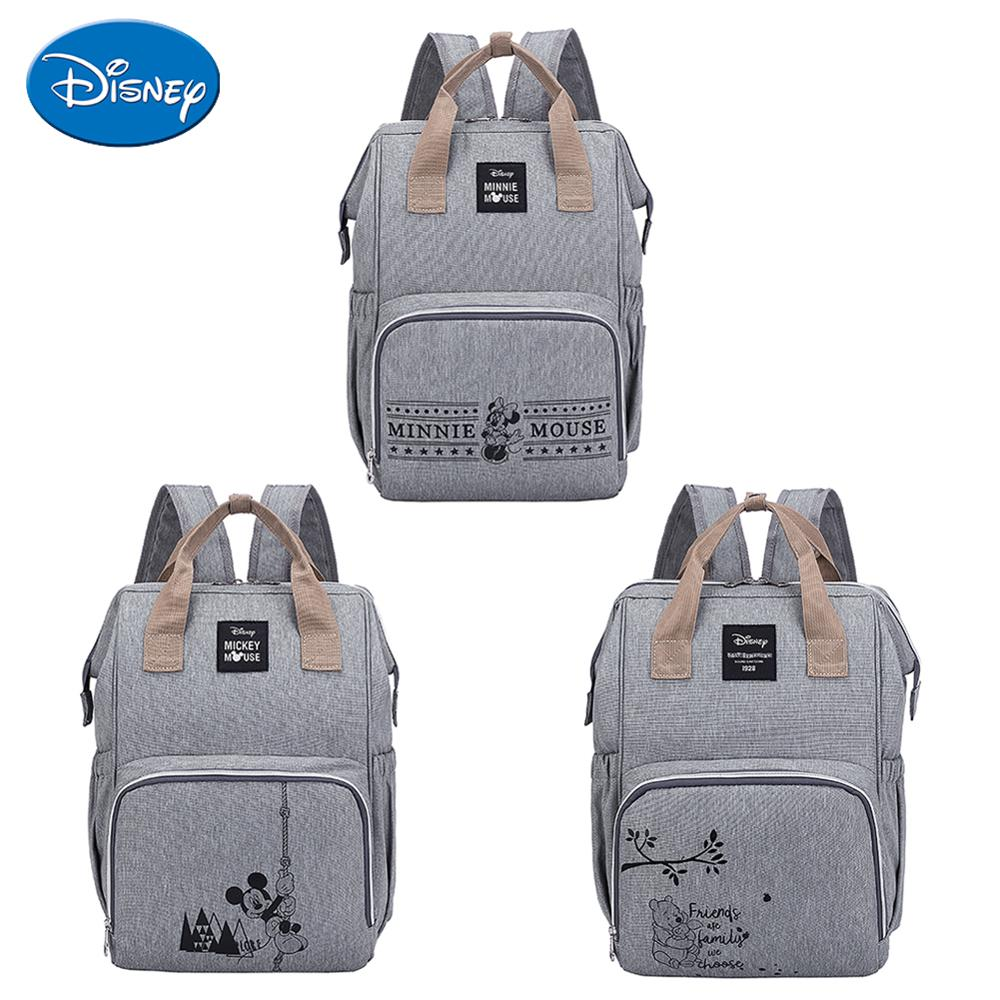 Disney Baby Nappy Changing Nursing Bags Care Oxford Cloth Mommy Diaper Bags Mom Minnie Mickey Mouse Pooh Bear Printed Backpacks