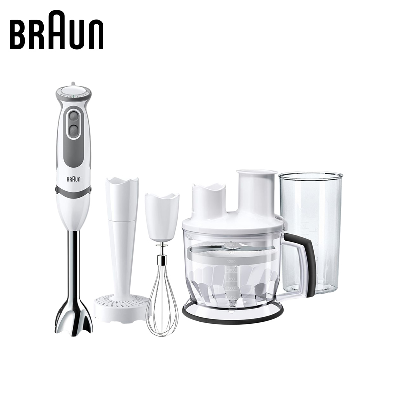 Home Appliances Kitchen Appliances Blenders braun MQ5077WH BUFFET+ mixer food processor hand blender shake juicer blender high quality stainless steel blade home kitchen meat food mincer grinder chopper beef pork chicken hand operated