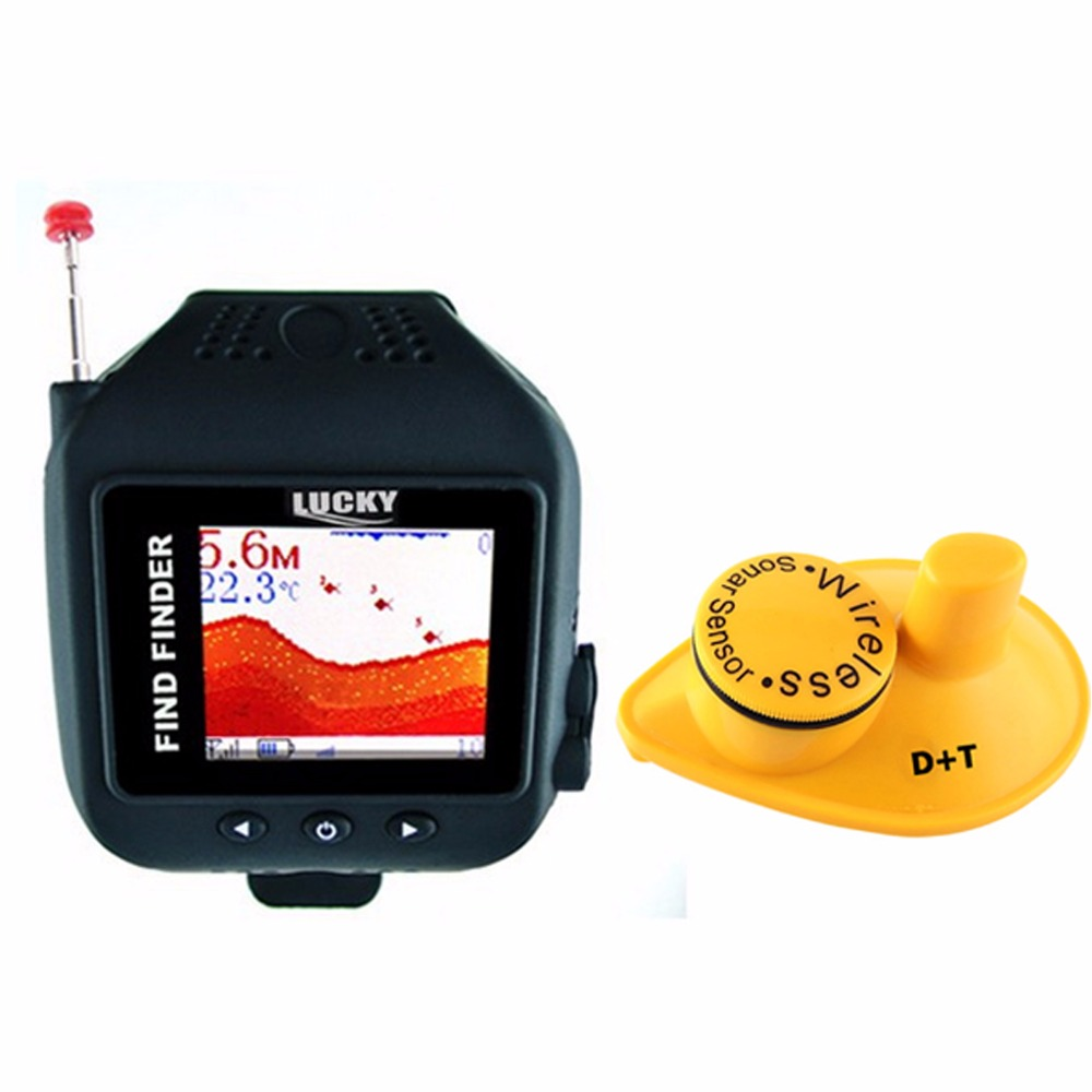 цены FF-518 LUCKY Watch Design Fish Finder 150ft Wireless Sonar Sensor Clock Mode Rechargeable 60m Fish Detector Watch