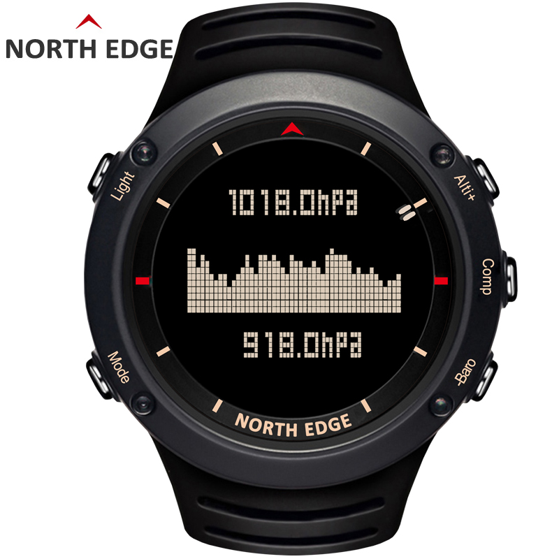 NORTH EDGE montre numérique sport homme heures de course natation sport montres altimètre baromètre boussole thermomètre météo hommes - 4
