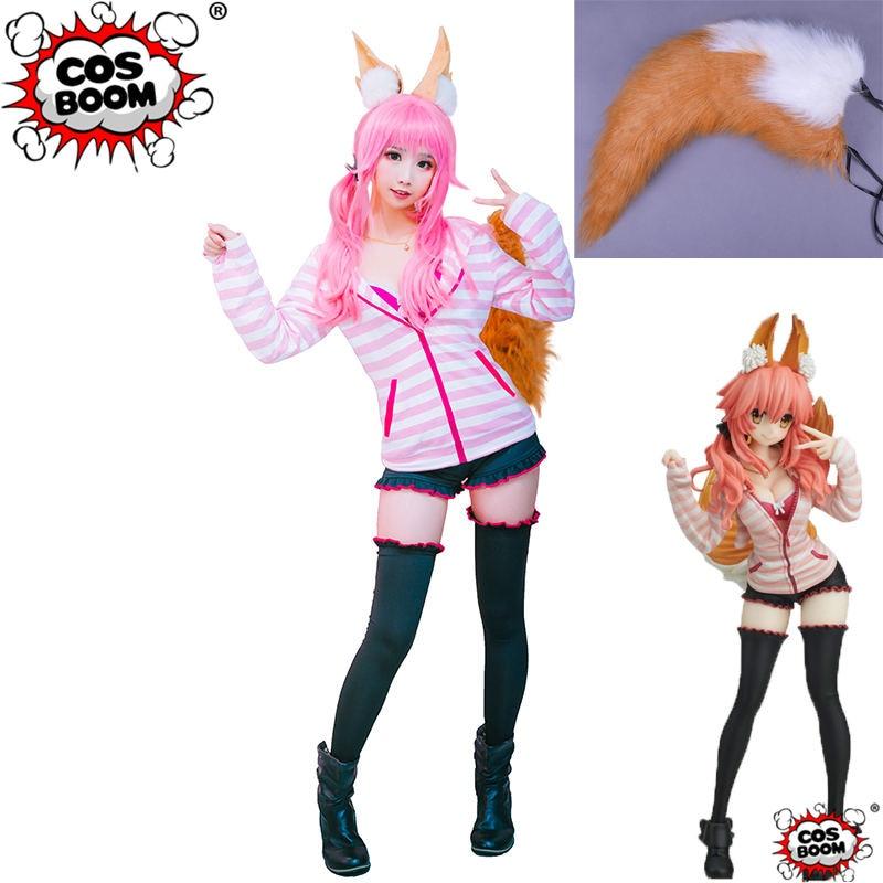 COSBOOM Fate Extra CCC Tamamo no Mae Cosplay Costume Game Fate Tamamo Women Cosplay Costume