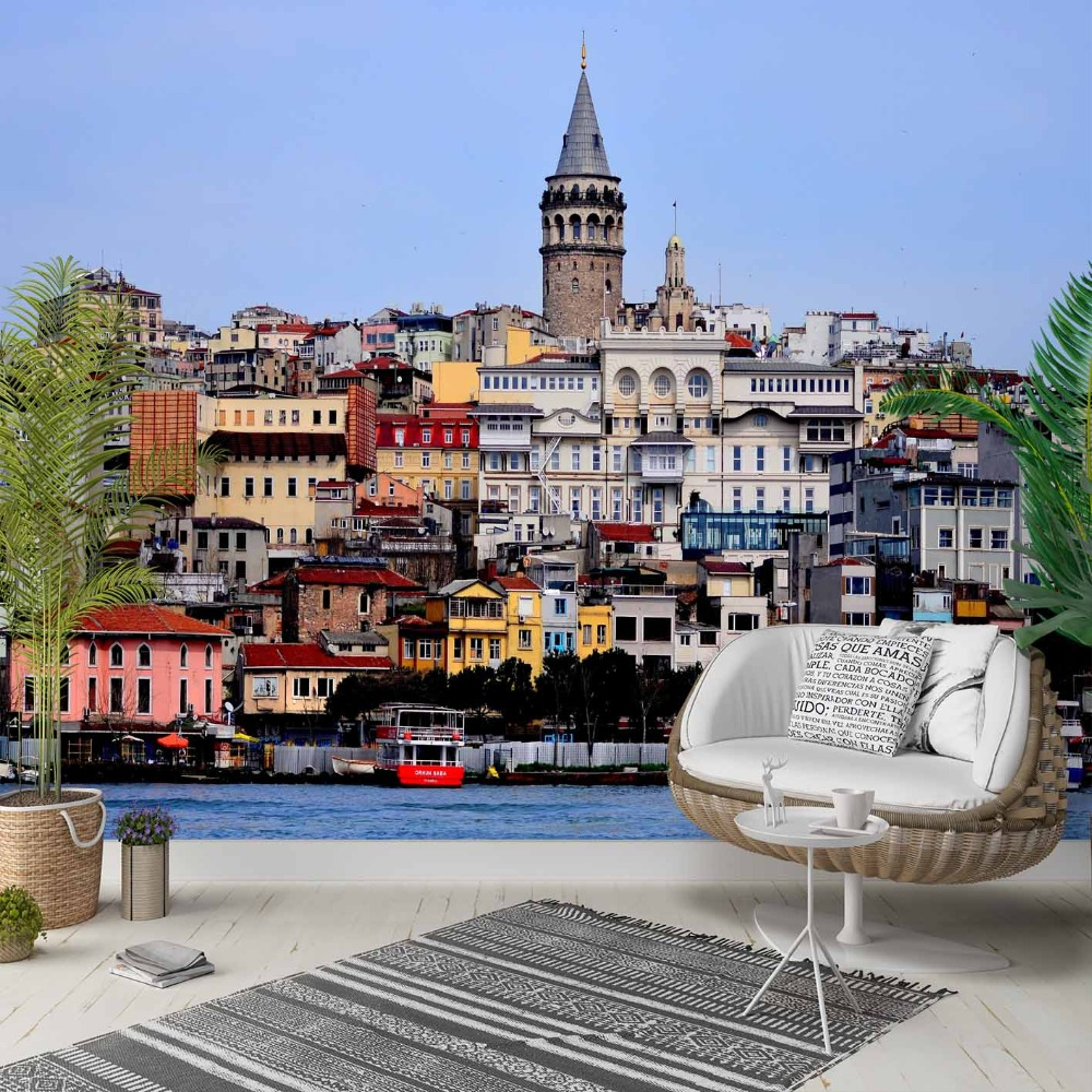 Else Istanbul Sea Throat Landscape Turkish 3d Photo Cleanable Fabric Mural Home Decor Living Room Bedroom Background Wallpaper