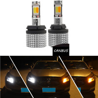 T20 7440 COB DRL Running Light White S25 1156 BA15S BAU15S Lamp Bulbs 12V Turn Signal Light Amber with Canbus ERROR FREE