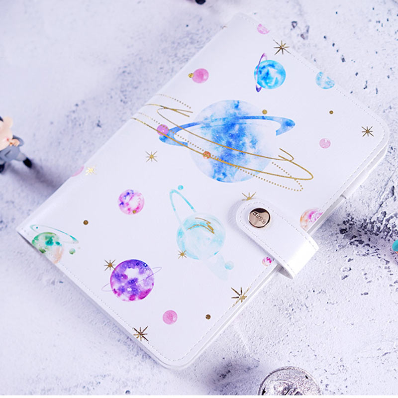Yiwi A6 Planet Star Print Planner Cover Cute Creative  Diary Notebook with GiftsYiwi A6 Planet Star Print Planner Cover Cute Creative  Diary Notebook with Gifts