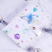 Yiwi A6 كوكب ستار طباعة مخطط غطاء لطيف الإبداعية دفتر اليوميات مع هدايا