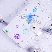 Yiwi cuaderno diario A6 con estampado de Planeta y estrellas, cuaderno creativo con regalos