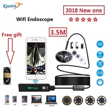 2018 WIFI Endoscope 3.5M New Camera 8mm HD Lens USB Iphone Android endoscope Tablet Wireless Endoscope wifi softwire