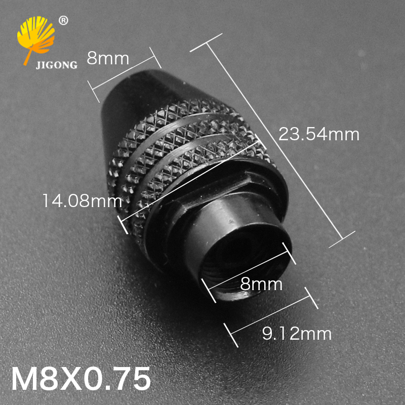 JIGONG chuck for tools M8x0.75 chuck Universal mini grinding chuck 0.3 x3.2 mm collet adjustable electric grinding JIGONG chuck for tools M8x0.75 chuck Universal mini grinding chuck 0.3 x3.2 mm collet adjustable electric grinding
