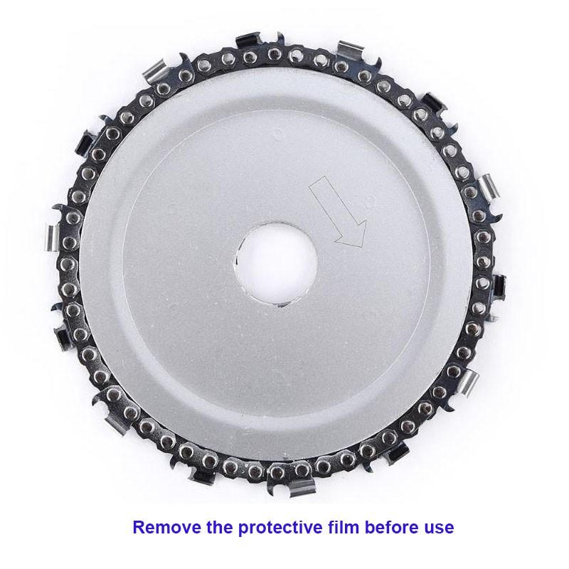 New 5 Inch Wood Carving Disc 14 Tooth Grinder Disc With Chain Saw Blades For 125x22mm Angle Grinder Carpenter Wood Cutting Tools (7)