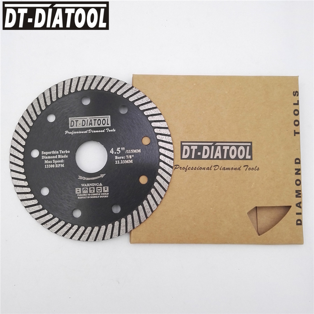 DT-DIATOOL Super-Thin Hot Pressed Turbo Diamond Blade Diamond cutting disc Dia105/115/125mm Grinding wheel Marble Tile Granite 2 pcs super thin sintered diamond blade cutting disc for jade agate stone wet grinding with cooling water jgs031