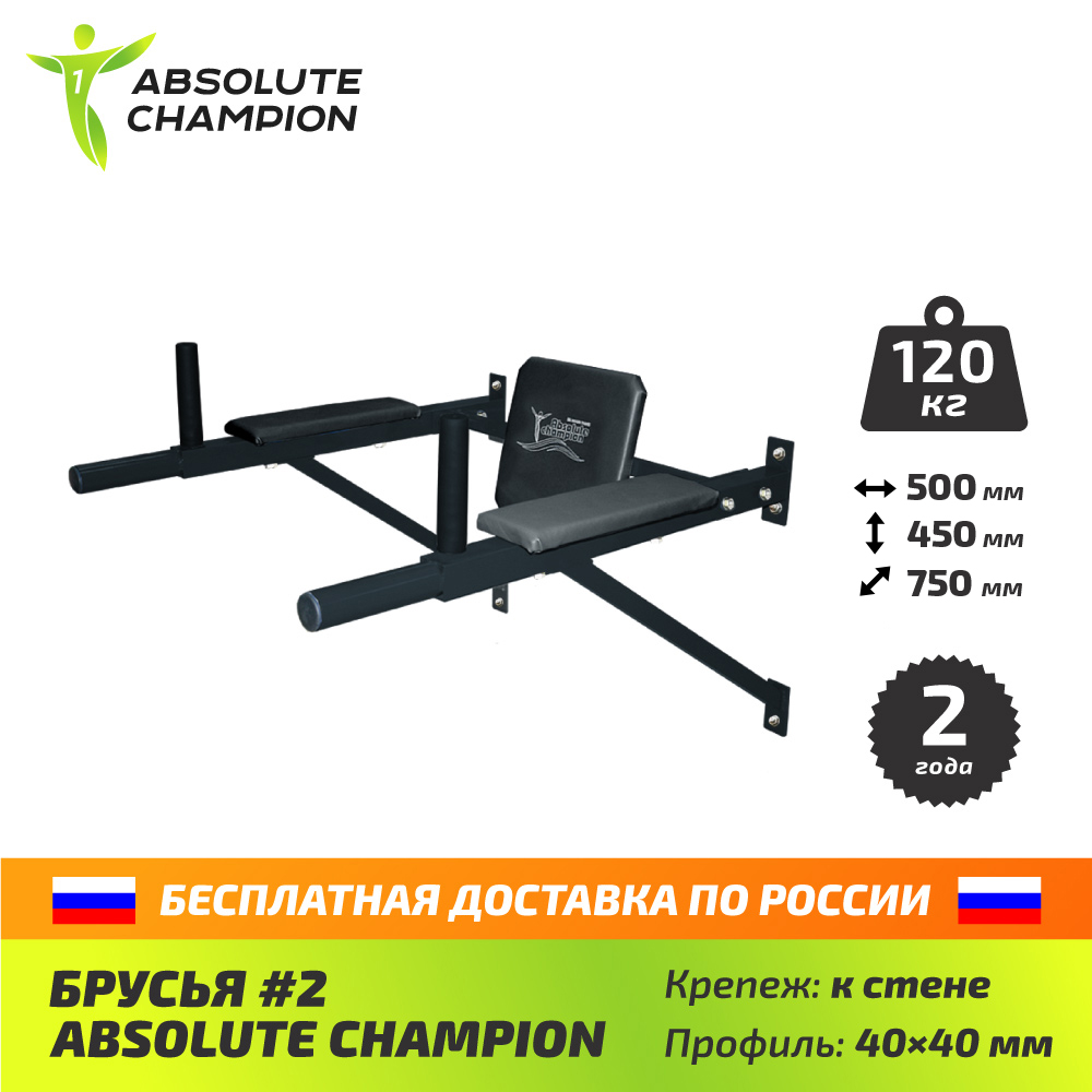 Parallel bars 2 for home and street for sports, press Absolute Champion