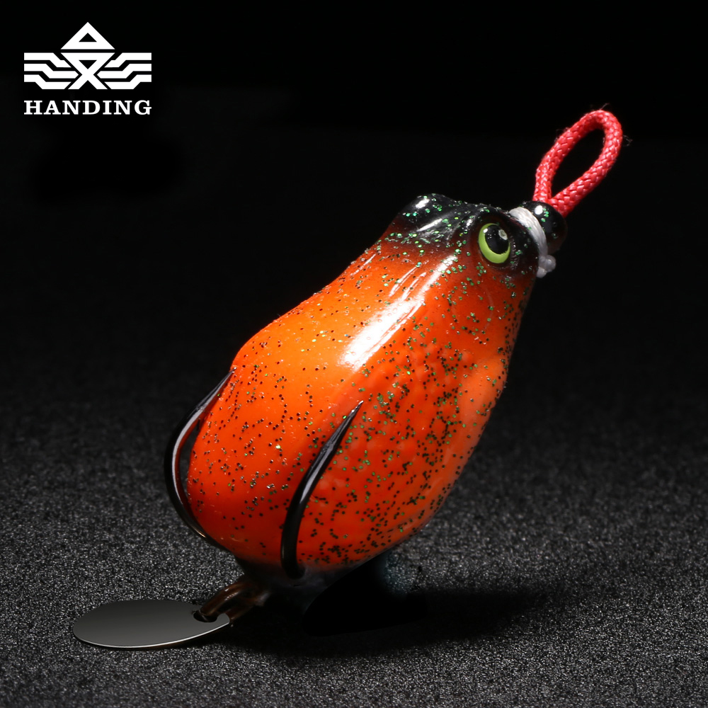 Handing Silicone frog fishing lure Mixed colors Fishing Soft lure baits Artificial Bait Lures new Top water Artificial Lure anmuka frog fishing lures kit snakehead lure topwater floating frog baits with box pesca isca artificial