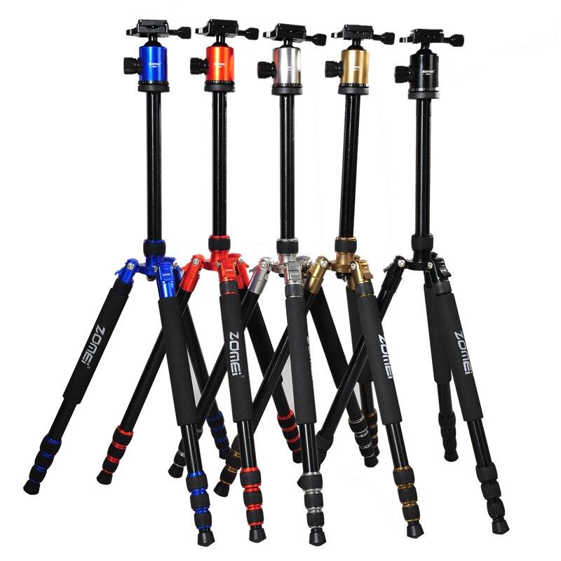 Monopode professionnel de Kit de trépied d'alliage d'aluminium pour l'appareil-photo DSLR cinq couleurs disponible Portable léger Compact
