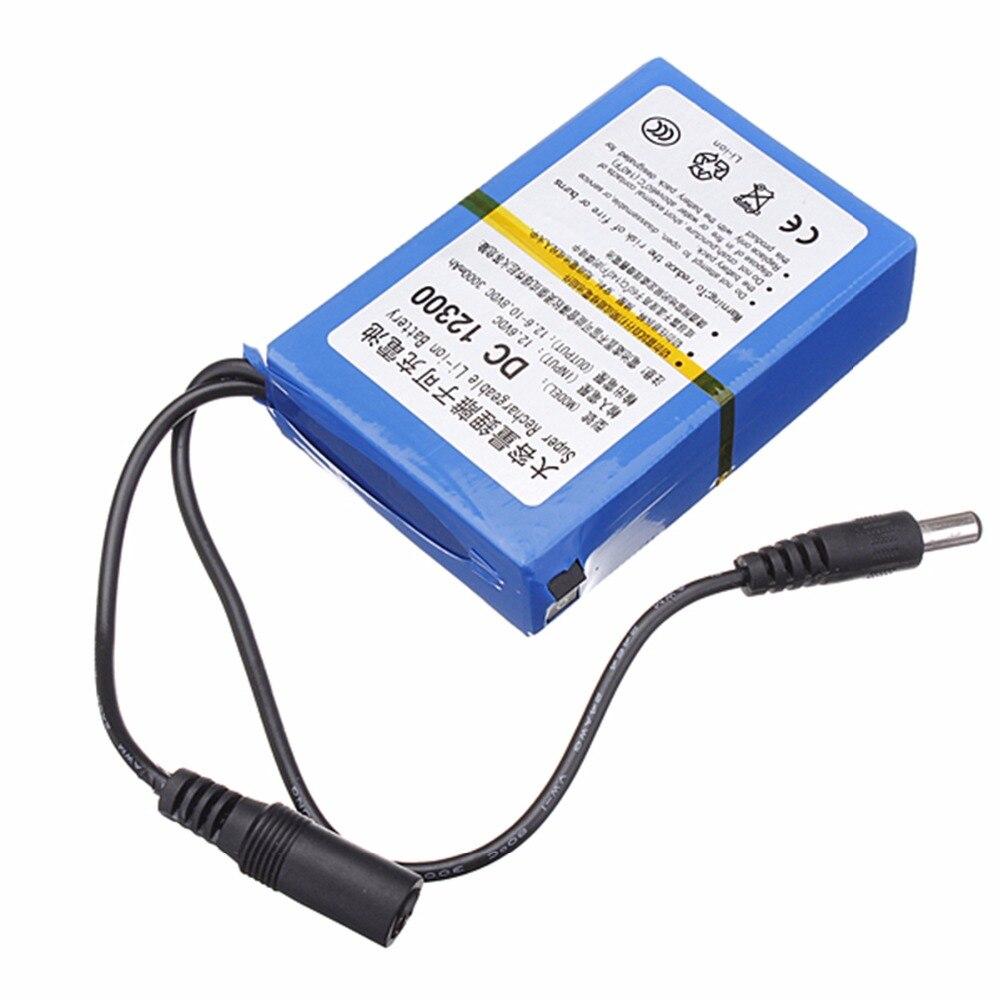 GTF 3000 mAh Lithium Ion haute capacité batterie Rechargeable AC chargeur d'alimentation EU/US bouchons batterie Rechargeable pour caméra CCTV