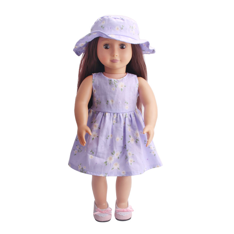 2019 New Fit 18 inch Born New Baby 43cm Clothes For Doll Flower Cloth clothes hat suits Clothes accessories For Baby Gift in Dolls Accessories from Toys Hobbies