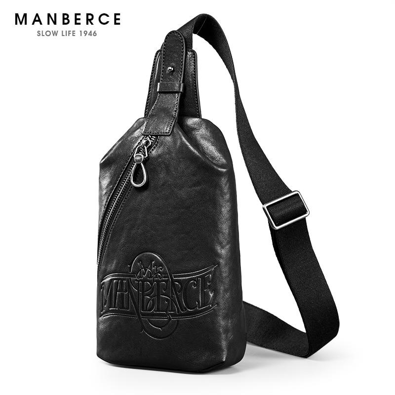 5d544f240ac5e ... MANBERCE جلد أصلي للرجال المرأة حقائب كتف العلامة التجارية... سعر   115لنا  57.5 سعر MANBERCE العلامة التجارية حقيبة ...