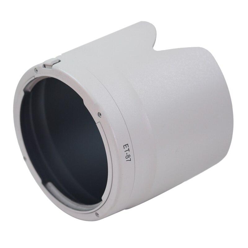 2pcs NEW black/White ET-87 Camera lens hood for Canon EF 70-200 mm f/2.8 L IS II USM 70-200 2.8II hood