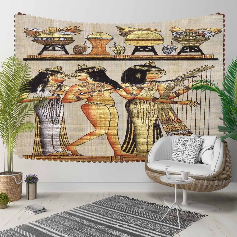Else Brown Yellow Egypt Persian Authentic Tribal 3D Print Decorative Hippi Bohemian Wall Hanging Landscape Tapestry Wall Art