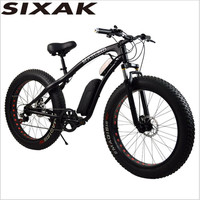 XiAK override lithium electric snow bike /LCD instrument booster / electric bicycle / auxiliary electric vehicle manufacturer wh
