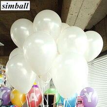 Białe balony 10 sztuk/partia 10 calowy balon lateksowy nadmuchiwane piłki powietrzne balony dekoracje ślubne dla dzieci urodziny